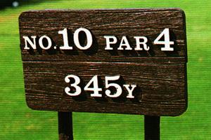 擬木ヤード標示板