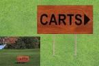 376A 木製チーク製指示板(片面標示)