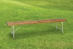 木目調樹脂製ベンチ(背なし)