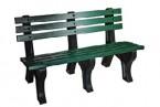 691D カラー樹脂製ベンチ(背あり)